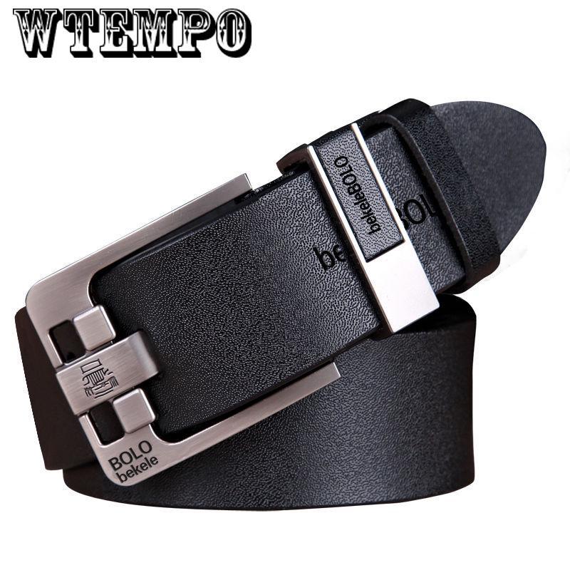 Belt Men Automatic Waist Strap 1pc Letter Buckle For male Black Genuine Leather