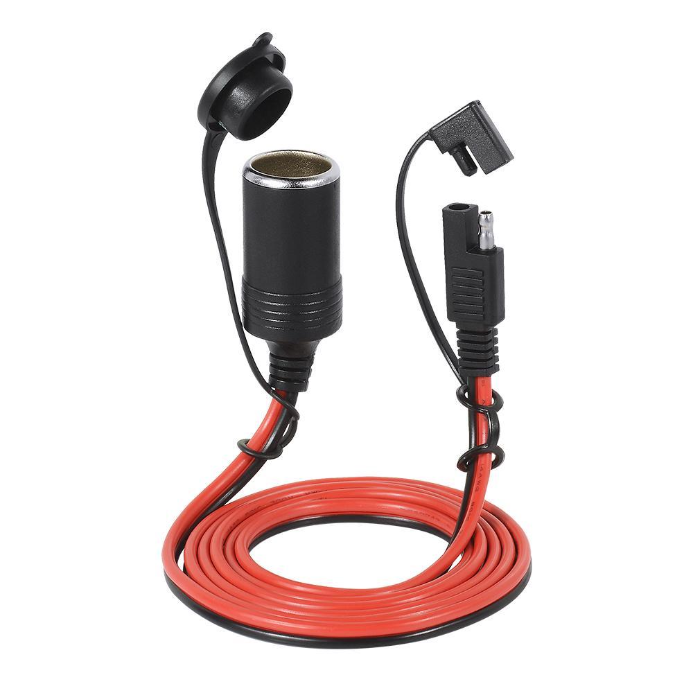 Encendedor de Cigarrillos Cable de L/ínea de Alimentaci/ón Conecte el Adaptador de Extensi/ón Cable Enchufe del Encendedor de Cigarrillos Adaptador de Corriente para Autom/óvil