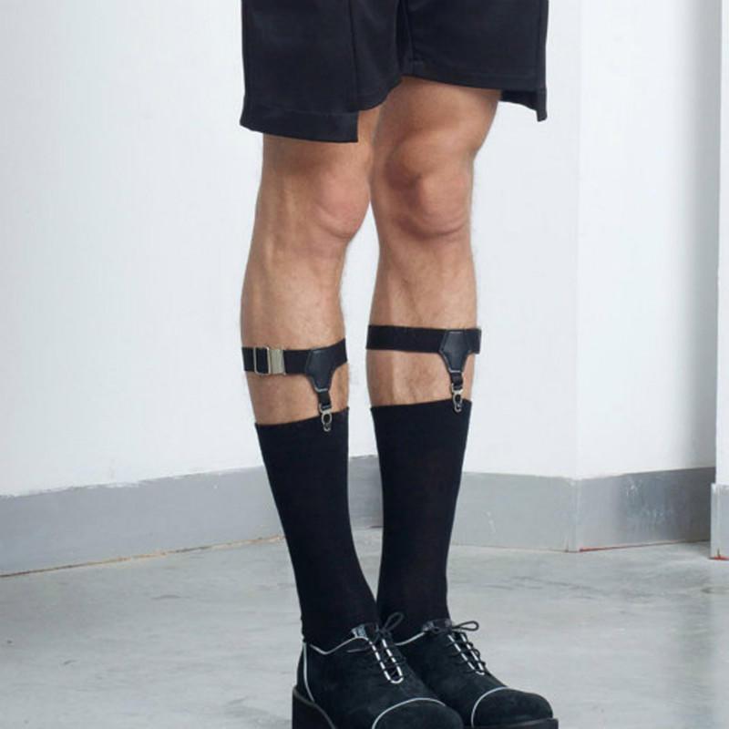 f43557338d Nueva moda para hombre pierna ligas caballero pierna muslo elástico ...