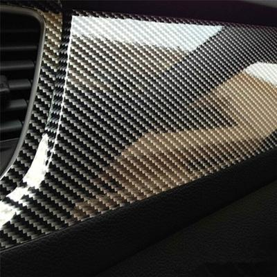 5D Gloss  Shining 【750mm X 1meter】Carbon Fibre Vinyl Wrap Sticker for Wrapping