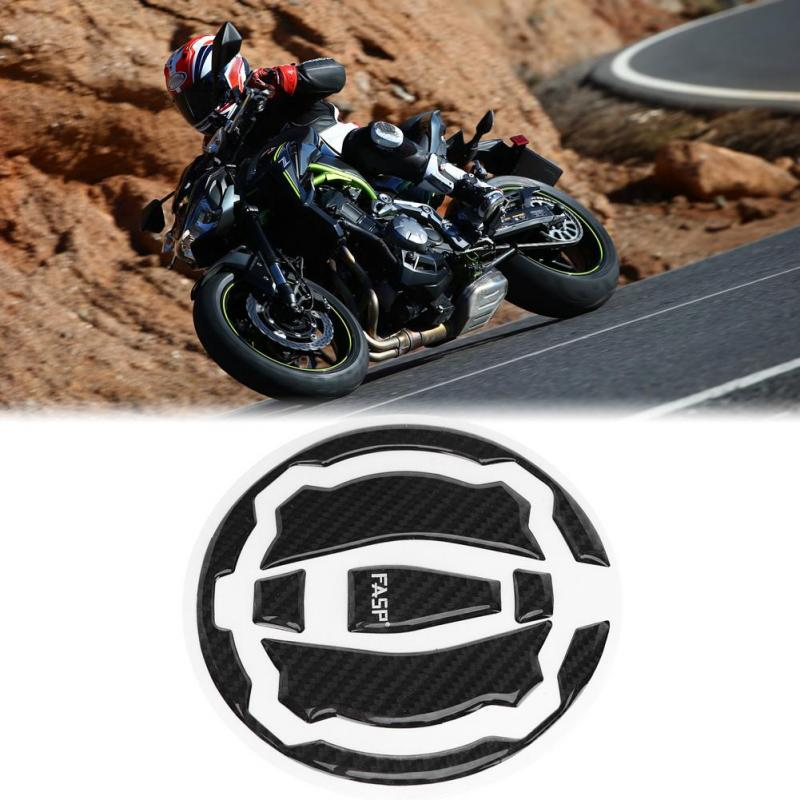 A Pro Adhesive Tank Fuel Petrol Cap Decal Fibre Look for Kawasaki Motorbike Carbon