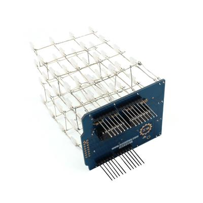 Blue 3D Light Cube Kit UNO Shield LED DIY Project for