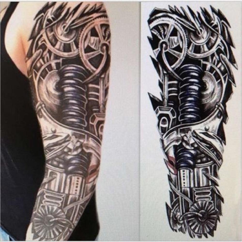 Bras Complet Robot Temporaire Tatouage Manches Autocollants Body Art Tattoo 3d Terminator Faire Des Achats En Ligne A Bas Prix Sur Joom