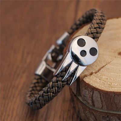 Japanese Anime Soul Eater Symbol Skeleton Death The Kid Bracelets