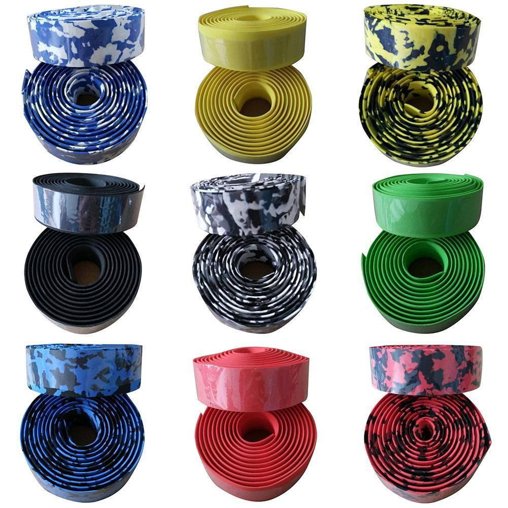 Bicycle Handlebar tape Camouflage Cycling Handle Belt Cork Wrap with Bar Plugs