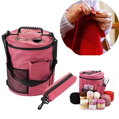 Crochet Bag Small Craft Crochet Storage Bag Yarn Sewing Kit Portable Hobby Bag