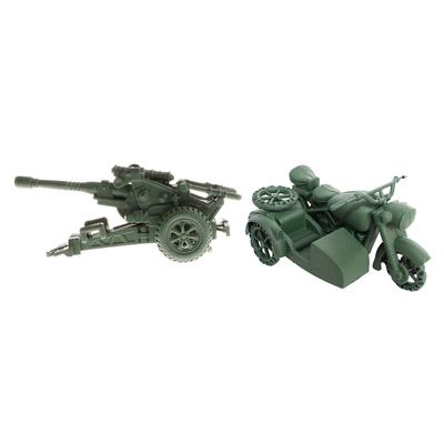 Simulation Military Howitzer Mortar Model Army Base Acc Sand Scene Model Toy