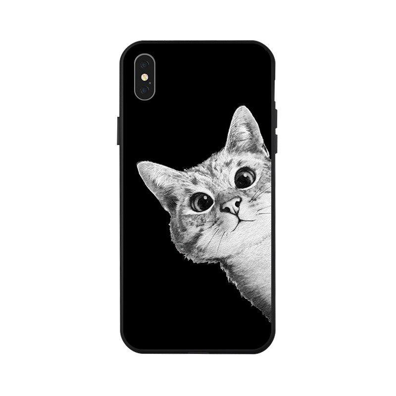 Для Iphone XXS Max XR 8 7 6 6S Плюс 5 5S Se Дело коробка окрашенных Мягкая обложка для Iphone 8 7 Плюс Дело