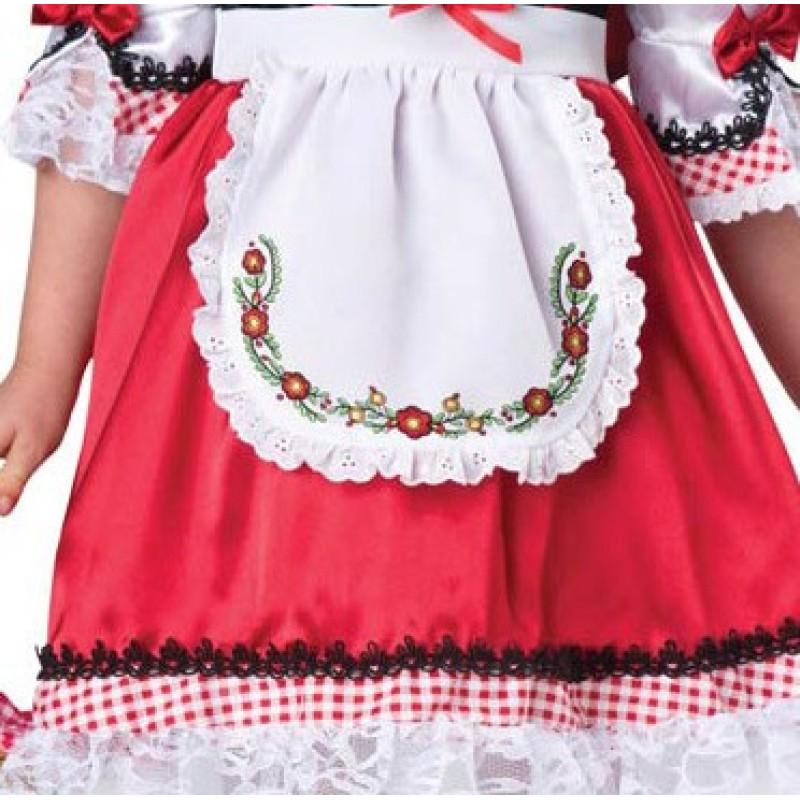 Childrens Plaid Dress for Halloween Party 3-8 yrs Red Riding Hood Costume for Girls