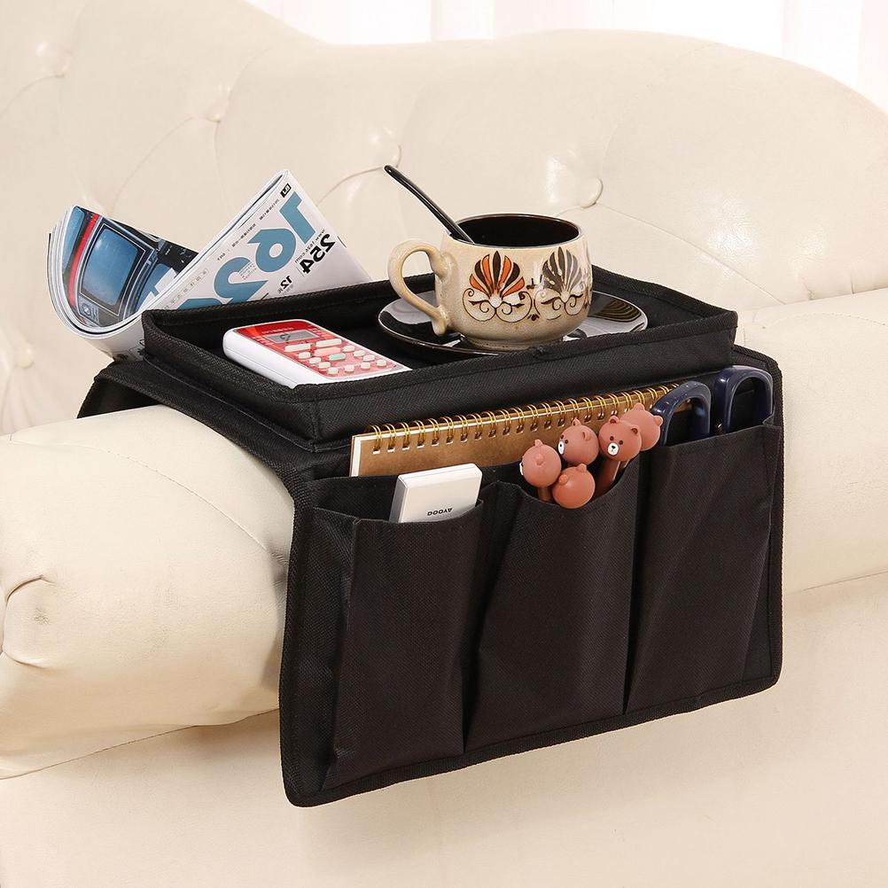 Sofa Chair Arm Rest 6 Pocket Organiser Storage Tray Holder Christmas Gifts