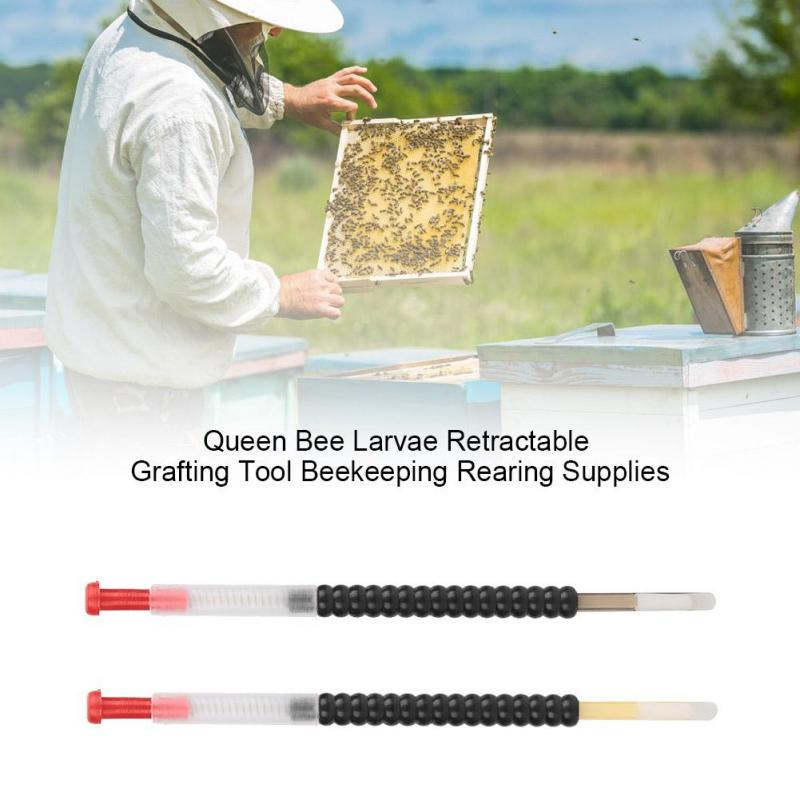 Beekeeping Tool Bee Queen Larva Needle Grafting Equipment Retractable Apiculture