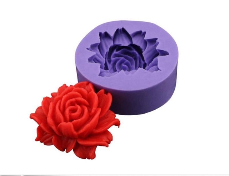 3D Silicone Flower Cake Mold Peony Rose Cake Decorating Tools Chocolate Mould
