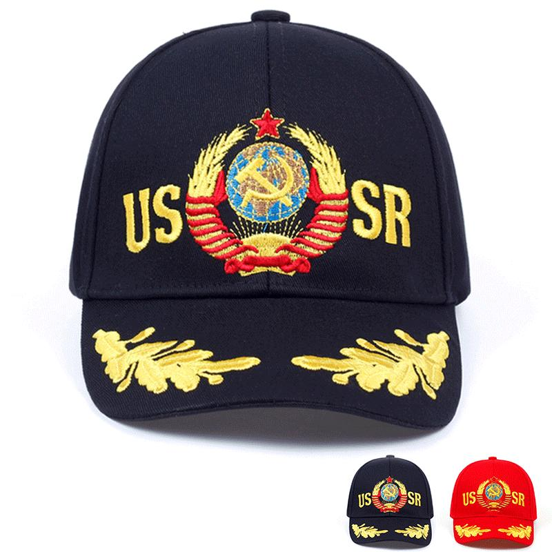 de8d5ecf6c6 USSR Baseball Cap Unisex Cap embroidery Russian CCCP Cap 100% COTTON ...
