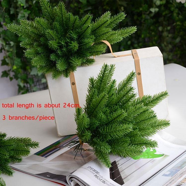 10Pcs Wedding Ornaments Fake Plants Artificial Pine Branches Xmas Tree