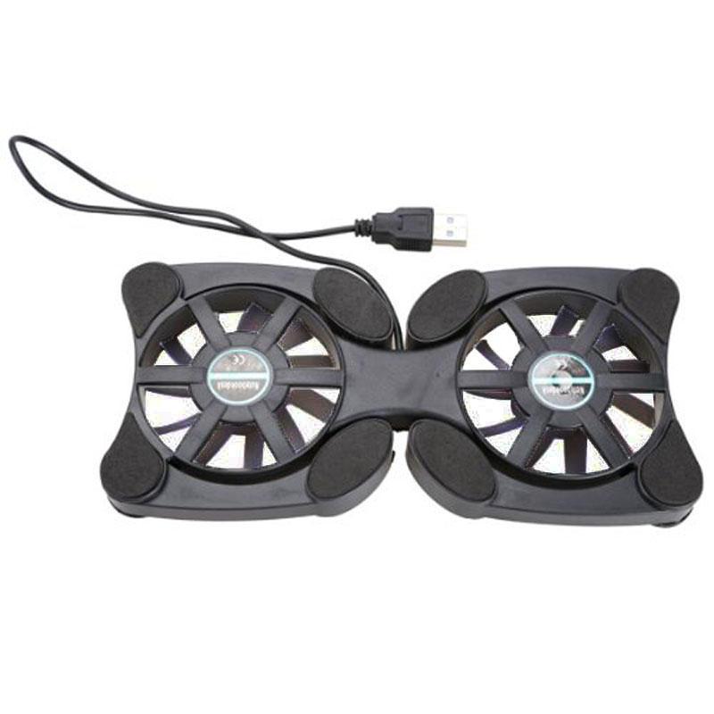 "Laptop mini octopus usb cooling notebook 2 fans cooler pad foldable fan 10/""WTUS"
