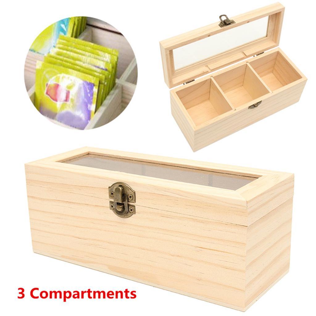3 отсека деревянных чай коробки античный груди олова Caddy стекла Крышка контейнер хранения – купить по низким ценам в интернет-магазине Joom