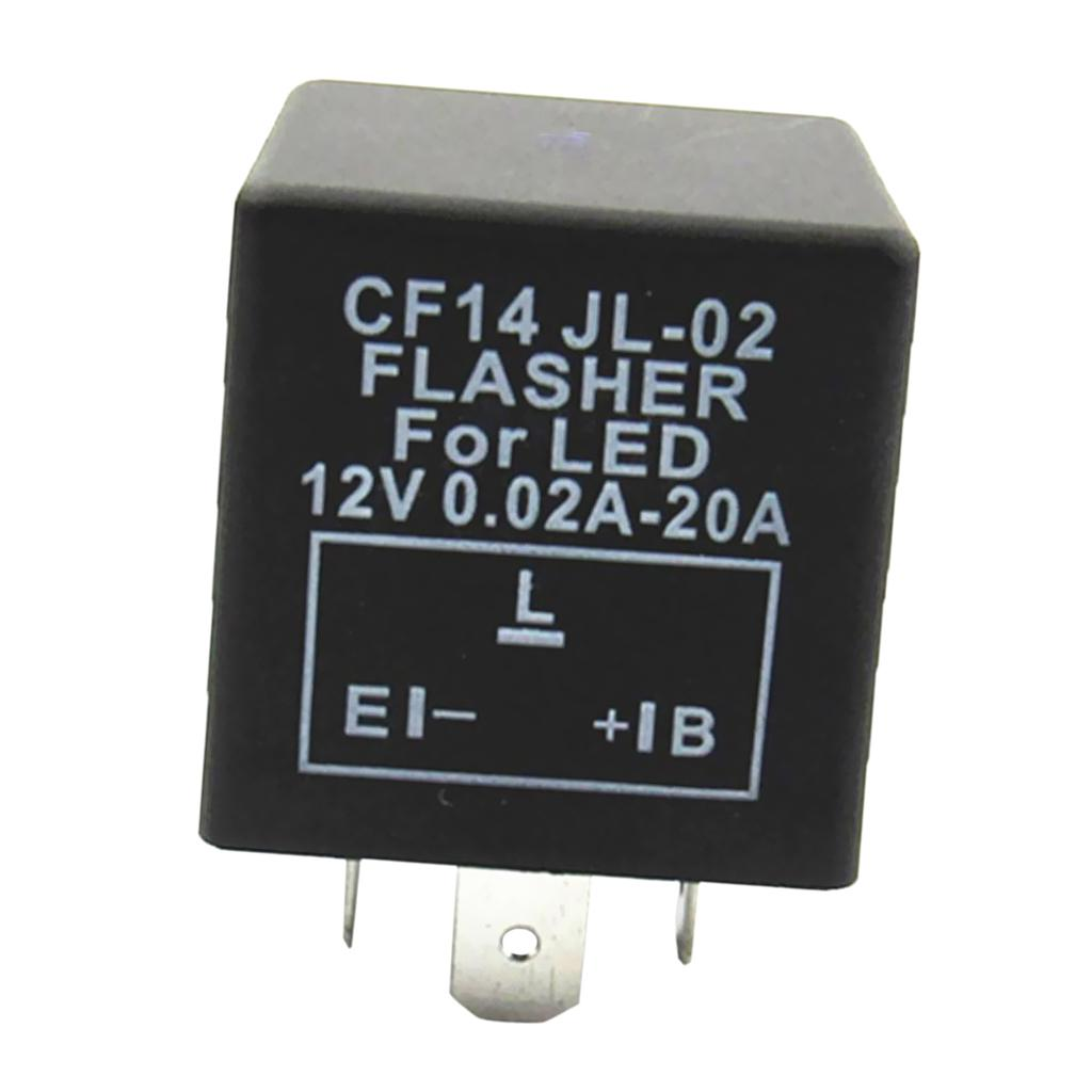 CF14 JL02 3Pin LED Blinker Relais für Auto Blinker Licht Flash ...