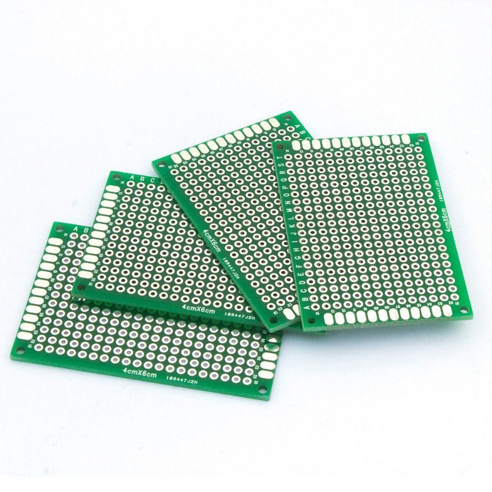 5pcs 46cm Test Matrix Pcb Stripboard Circuit Board Double Side Kit Prototyping Printed Panel Strip Breadboard 1 Of 8