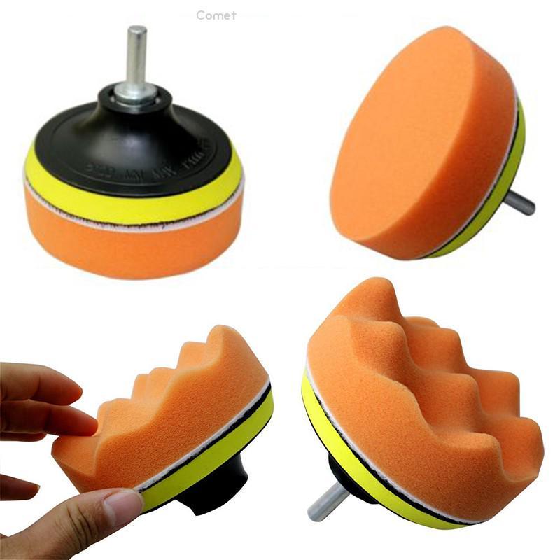 4Pcs//Set Car Polishing Sponge Foam Pads Waffle Pad Buffing Wax Polisher