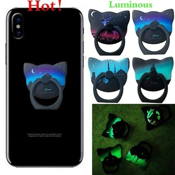 Светящиеся кольца держатель палец кольцо мобильный телефон стоять смартфон поддержка (случайный цвет)