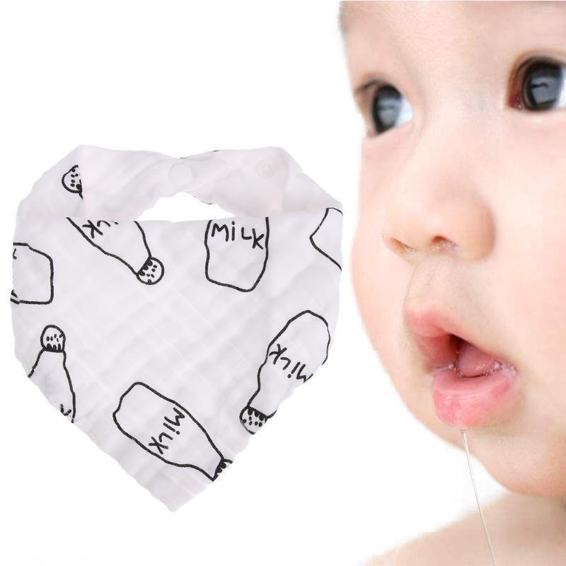 4Pcs Bebé Alimentación Cabeza Bufanda toalla Babero Niño Niña pañuelo saliva Triángulo drible