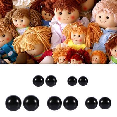 5-7mm Plastic Black Safety Eyes For Teddy Bear//Dolls//Toy Animal//Felting Gut