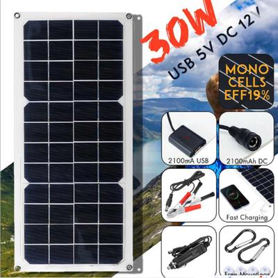 Solar Panel 10w Monocrystalline For Car Charging Outdoor Camping Travel Buy At A Low Prices On Joom E Commerce Platform