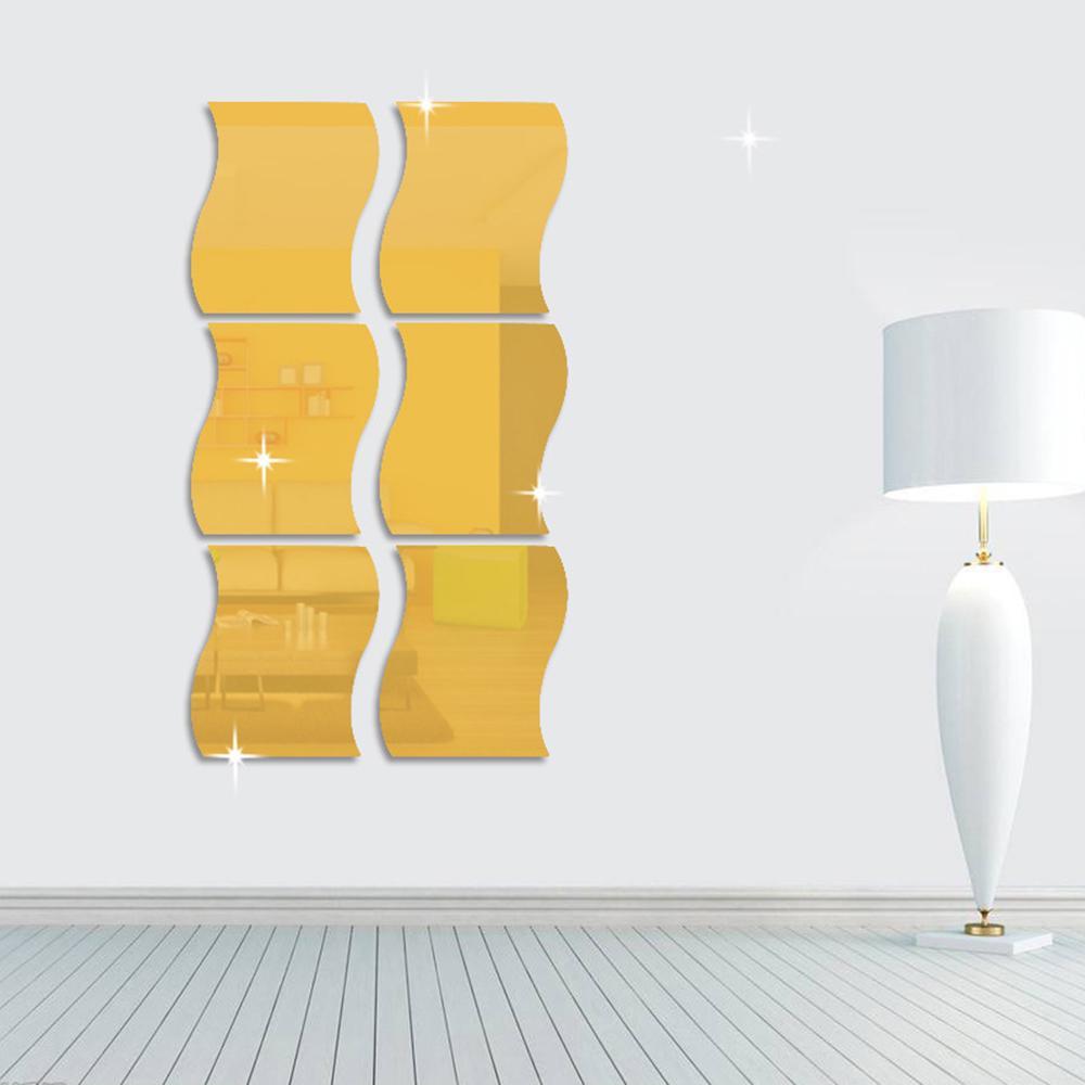 1Set DIY Removable Geometri Acrylic Mirror Decal Art Wall Sticker Home Decor FG