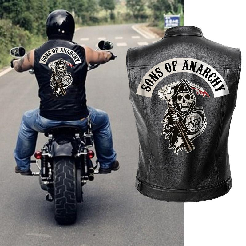 Sons Of Anarchy Leather Jacket Vest Men Motorcycle Spring Jackets Soa Punk Black Motorrad Gilet Buy At A Low Prices On Joom E Commerce Platform