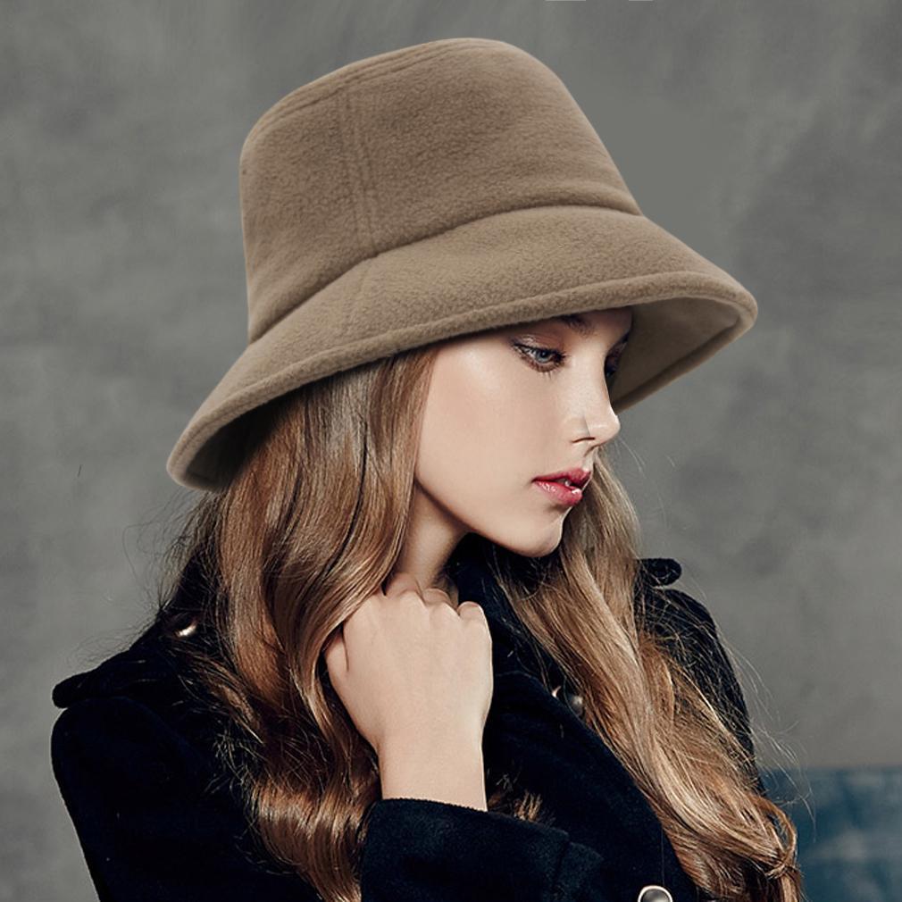 Мода Зимняя Твердая Панама Рыбалка Шапки для женщин Осень Открытый ведро Шляпа Плоский рыбак шляпы – купить по низким ценам в интернет-магазине Joom