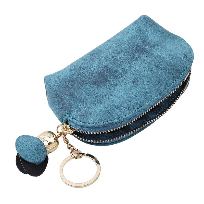 Ladies Leather Small Mini Wallet Card Key Holder ZipCoin Purse Clutch Bag UK-106