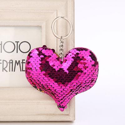 Cute Pig Shaped Key Chain Reflective Glossy Keyring Women Bag Holder Charm Gifts