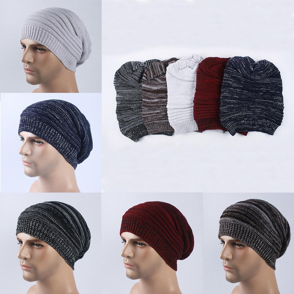 Hombres invierno cálido holgados gorro de punto sombrero del ...