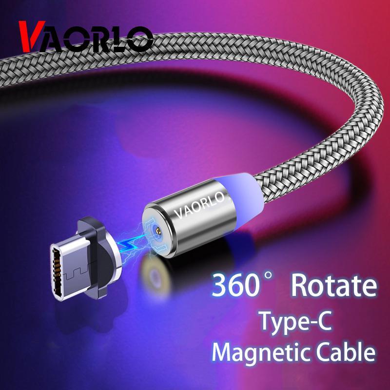 VAORLO 1M Магнитный Charing Кабель USB Кабель для Huawei Честь Тип-C Зарядка Кабель Быстрая зарядка Мода Кабели фото