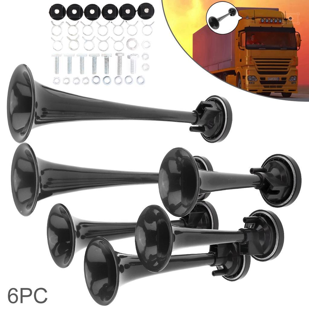 1pcs Chrome Air Horn Single Trumpet Compressor Super Loud Bus Car Truck Boat 12V