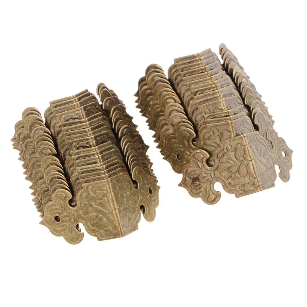 30 штук старинные декоративные древесины ящик угловой Protector гвардии край крышки фото
