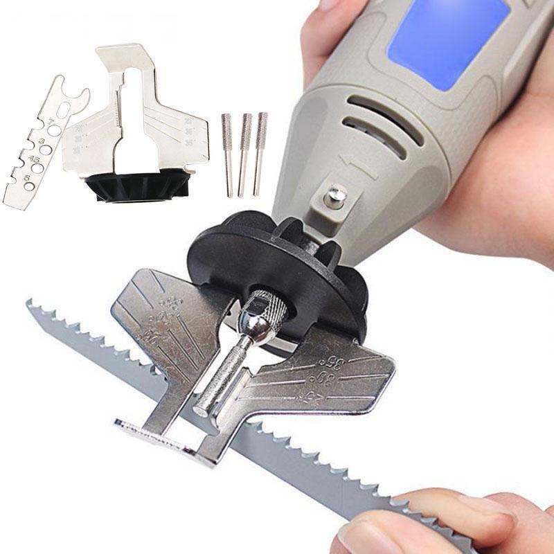 5Pcs//Set HSS Chain Saw Sharpener Attachment Grinding Tool Kits for Dremel Bit