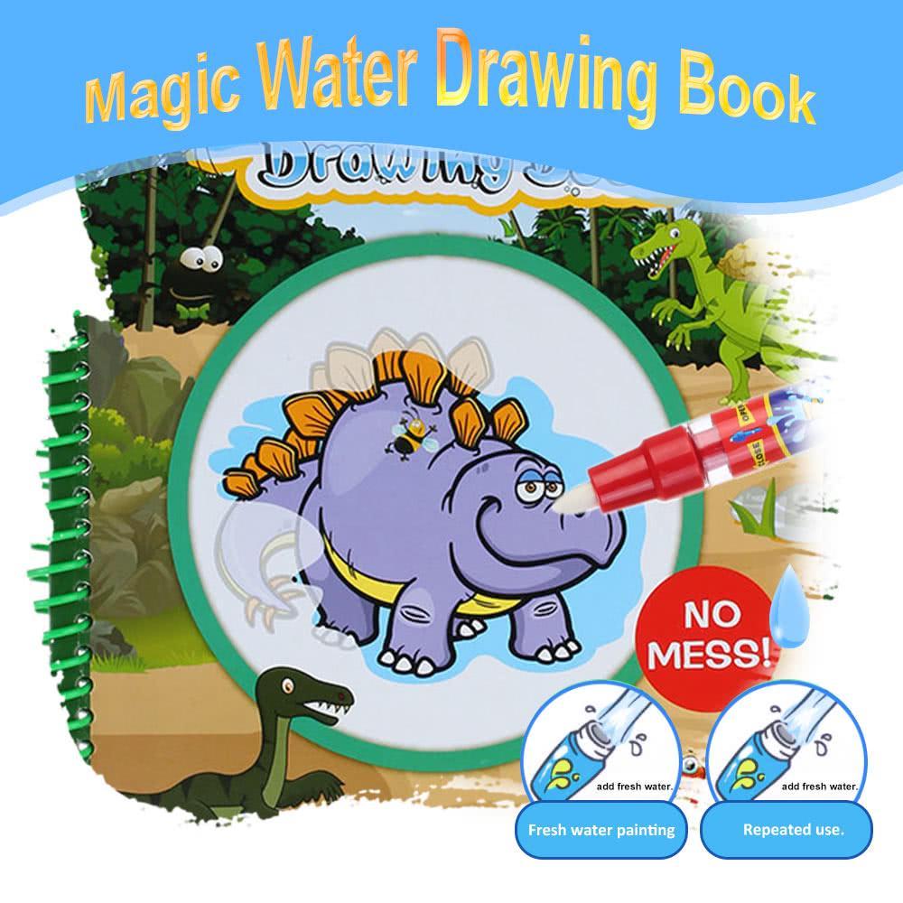 Sihirli Boyama Kitaby Magic Water Hayvanlar Alemi Resim Cizmek