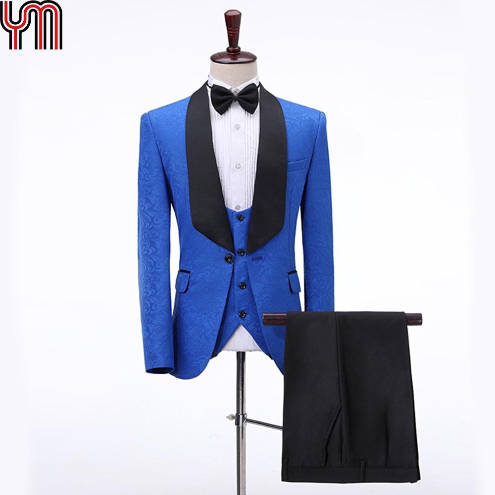 Wedding Tuxedo Men Suit Pant 2Piece Burgundy Velvet Shawl Lapel Costume Slim Fit