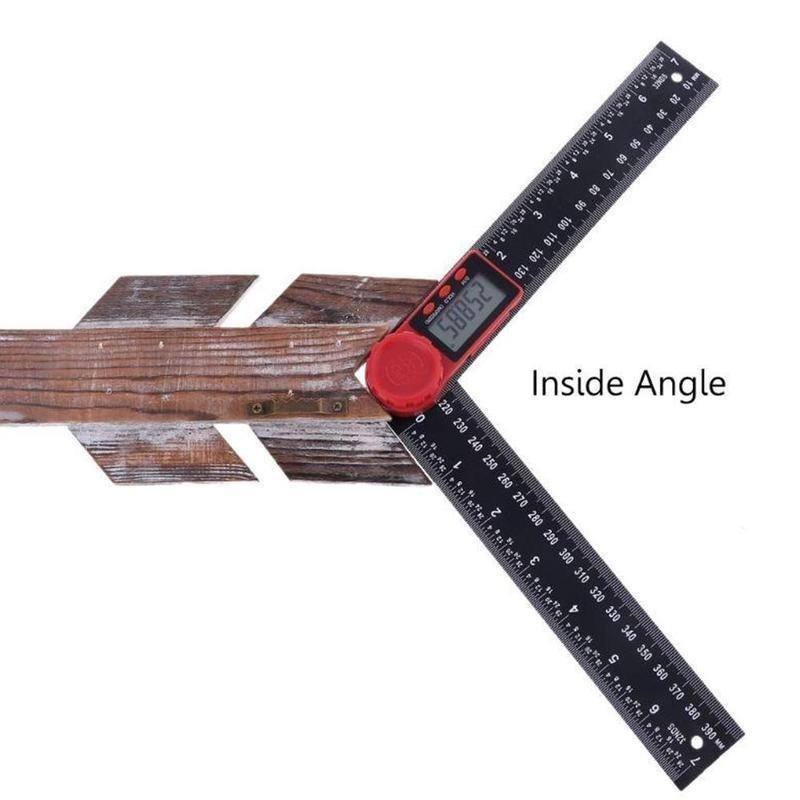 2 in1 12inch Digital Protractor Angle Finder Ruler For Crown Trim Woodworking CS