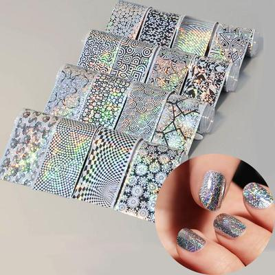 16pcs Laser Holographic Nail Art Decals Starry Sky Nail Foil Manicure Decor Transfer Stickers Buy At A Low Prices On Joom E Commerce Platform