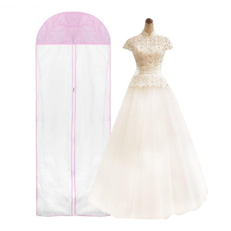 2 Size Wedding Dress Bridal Gown Garment Dustproof Breathable Cover Storage