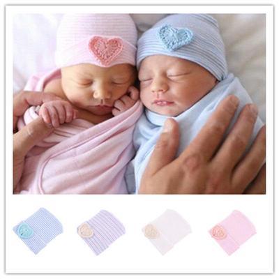 1e5b733354c Cute Newborn Baby Infants Boys Girls Heart Knit Warm Beanie Hospital Hats  Cap