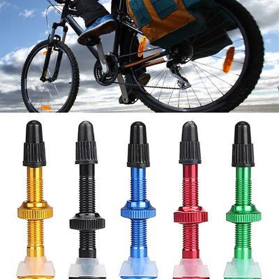 40mm Aluminum Alloy 6Colors Mountain-Bike Tubeless Tires Presta Valves