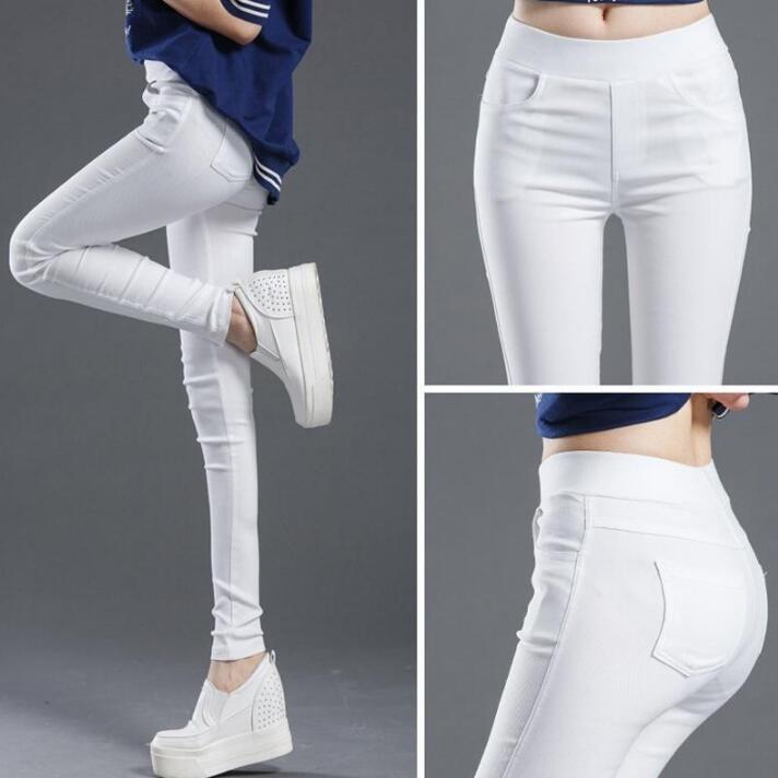 Женские повседневные брюки-леггинсы. Материал хлопок, полиэстер