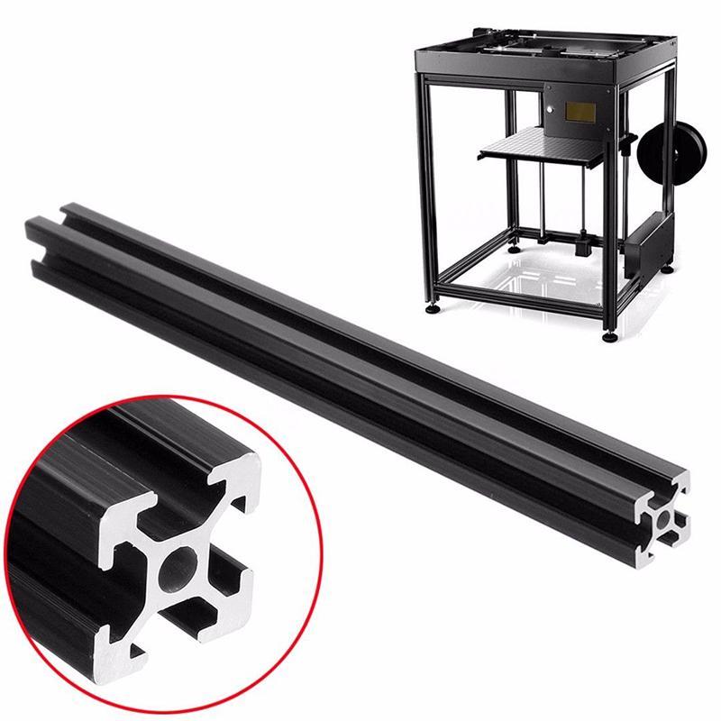 Black T-Slot Aluminum Alloy Profiles Extrusion Frame for Printer 600mm Durable