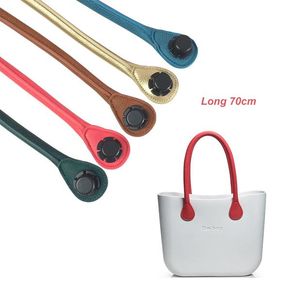 1 Pair Short Long Size Soft Pu Faux Leather Handles For Obag Ambag ... 8fce8a724a4