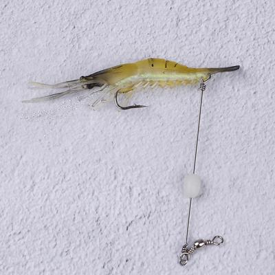10pcs Shrimp Simulation Soft Prawn Lure Bait Tackle Bass Fishing Lures K6