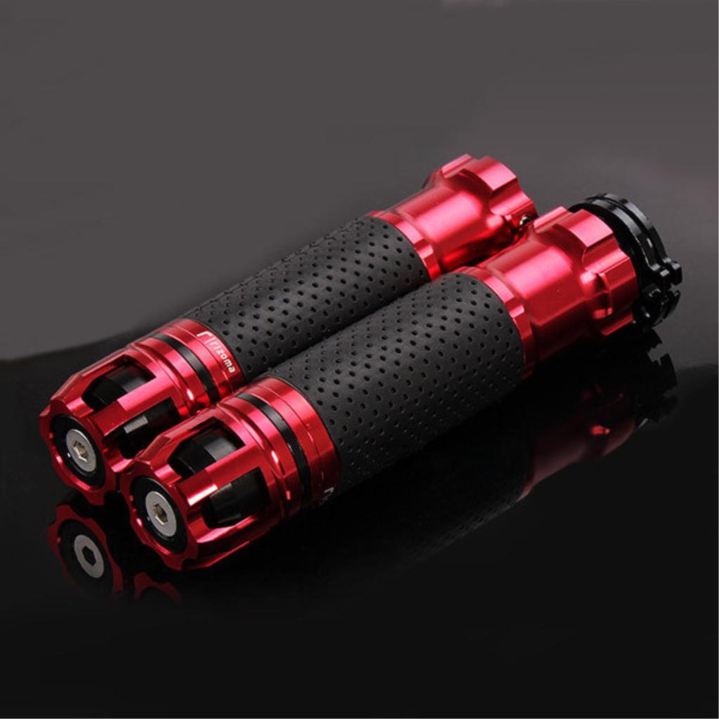 "22mm 7//8/"" Motorcycle Refit Throttle Hand Grip Rotatable Handlebar Black Red"