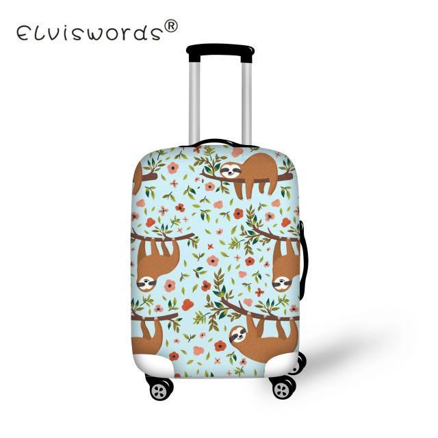 Fashion Bulldog Luggage Cover Protector with Zipper Flexible Protective Bag
